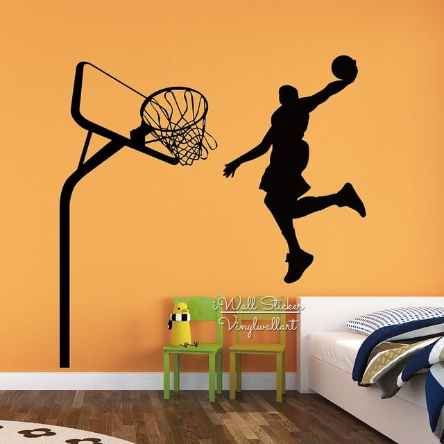 Charmant Basketball Man Wall Sticker Modern Basketball Wall Decal DIY Sports Wall  Decor Living Room Home Improvement