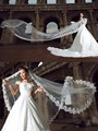 Cathedral Ivory&White Wedding Veils 3 Meters Long Lace Purfle Bridal Veil Fashion Acessorios Para Noivas Veu De Noivaveu