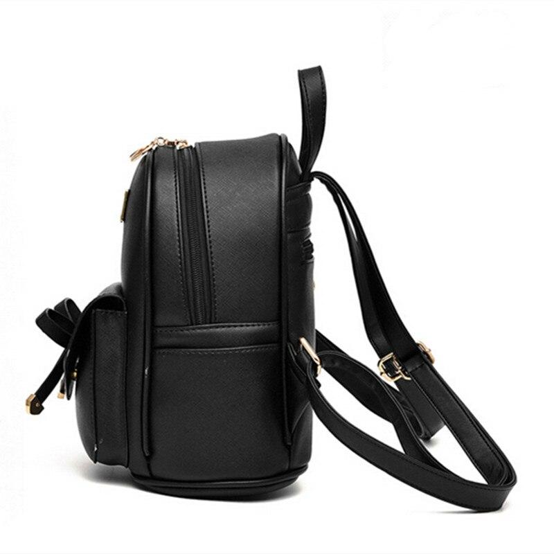 d31bda28604 Aliexpress.com  Comprar Mochila de moda para mujeres para niñas mochilas  nuevas mochilas negras para niñas pequeñas bolsas de cuero para damas  mochilas Moch ...