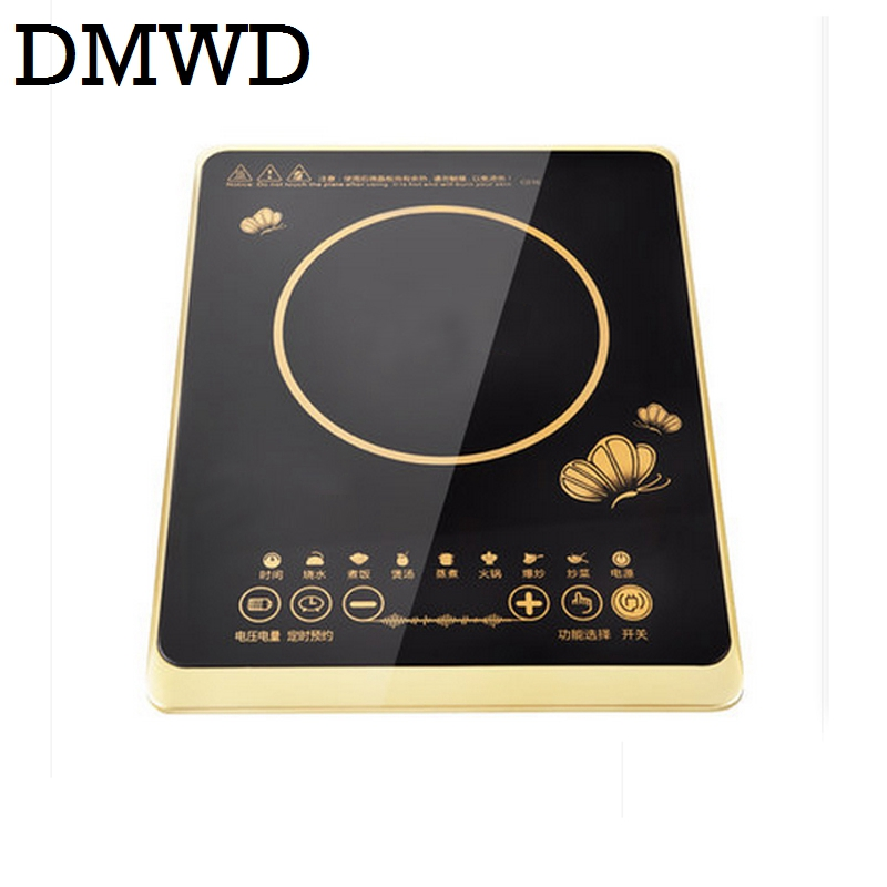 DMWD electric magnetic Induction cooker 220V 2200W cooking hot pot waterproof panel small hot pot stove hotpot oven cooktop EU electric 4 heads and 6 heads induction cooker embedded electromagnetic oven household commercial electromagnetic furnace cooking