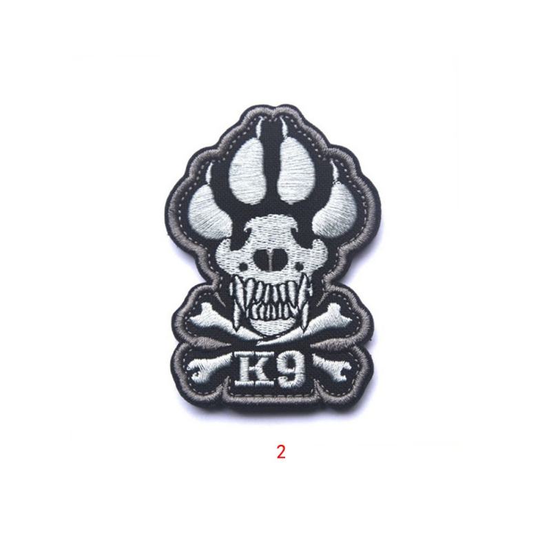 War Tactical Military Patch Armband Retail Crossbones Attack Police Dog Army Badge Morale 2018 New
