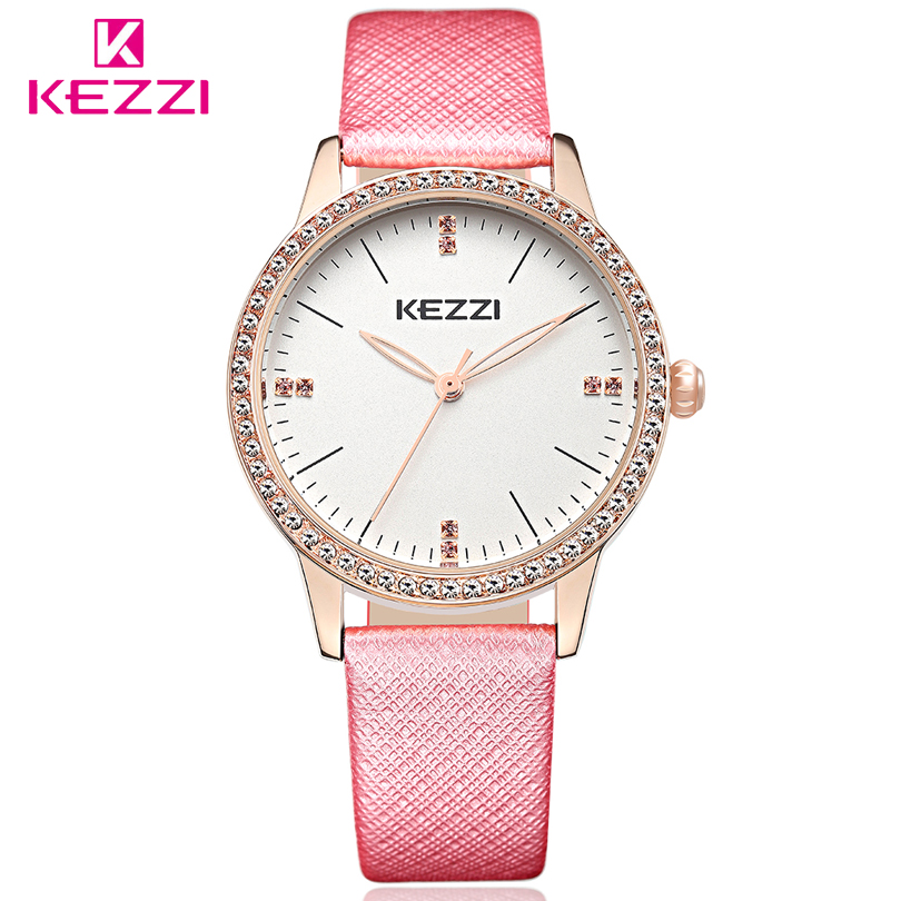 KEZZI Relogio Feminino Quartz-Watch Fashion Watch Women Luxury Brand Leather Strap Watches Ladies Wristwatch Relojes Mujer Clock megir brand luxury women watches fashion quartz ladies watch sport relogio feminino clock wristwatch for lovers girl friend