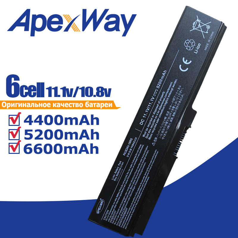 4400mAh laptop battery for Toshiba Satellite C670D L310 L510