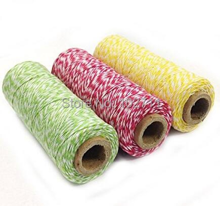 10000 yards 100 Spool Gift Packaging Twine 100Yard spool 4 Ply Cotton Bakers Twine Fast Shipping in Party DIY Decorations from Home Garden