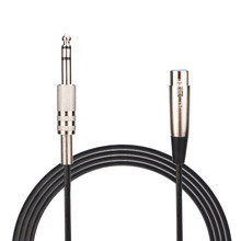 Digital Cables de Audio y Video cable XLR de 3 pines hembra a Conector estéreo de 6,35mm apantallado, micrófono Cable de Audio 0508