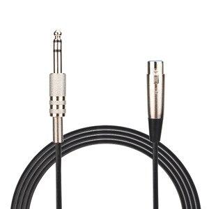 Image 1 - Digital Kabel Audio Video kabel XLR 3 Pin Buchse Auf 6,35mm Stereo Stecker Geschirmt Mikrofon Mic Audio Kabel kabel 0508