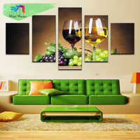 Diamond Embroidery Flowers Pictures Of Rhinestones home Decoration Beaded Diamond Painting Sets Grape wine 5 pcs/ sets DW967