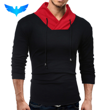QINGYU Male 2017 Brand Long Sleeve Solid Color Sweater T Shirt Slim Men T-Shirt Tops Fashion Mens Tee Shirt T Shirts 2XL