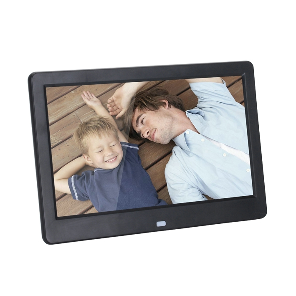 Nouveau 10 pouces cadre Photo numérique LCD écran LED rétro-éclairage HD 1024x600 Album électronique Photo musique vidéo cadeau bébé se marier