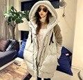 2017 Jaqueta de Inverno das Mulheres Para Baixo Outerwear Espessamento Para Baixo Casaco Jaqueta de Médio-Longo Além Disso Szie