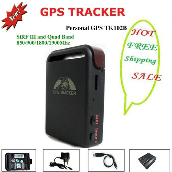 Mini children GPS Tracker TK102B with Memory Slot and Inbuilt Shock Sensor and Sleep Function with coban brand free shipping