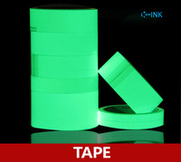 Different Sizes Photoluminescent Tapes As Warning Tape For Dark Night Luminous Tape