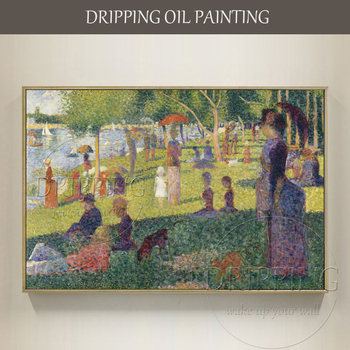 China Artist Reproduction Georges Seurat Painting Hand-painted Sunday Afternoon on the Island of la Grande Jatte Oil Painting