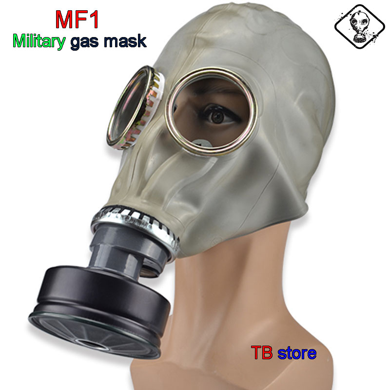Mascarilla de gas militar MF1 mascarilla respiradora de goma natural de calidad militar mascarilla de prevención química de contaminación Nuclear gasmaske