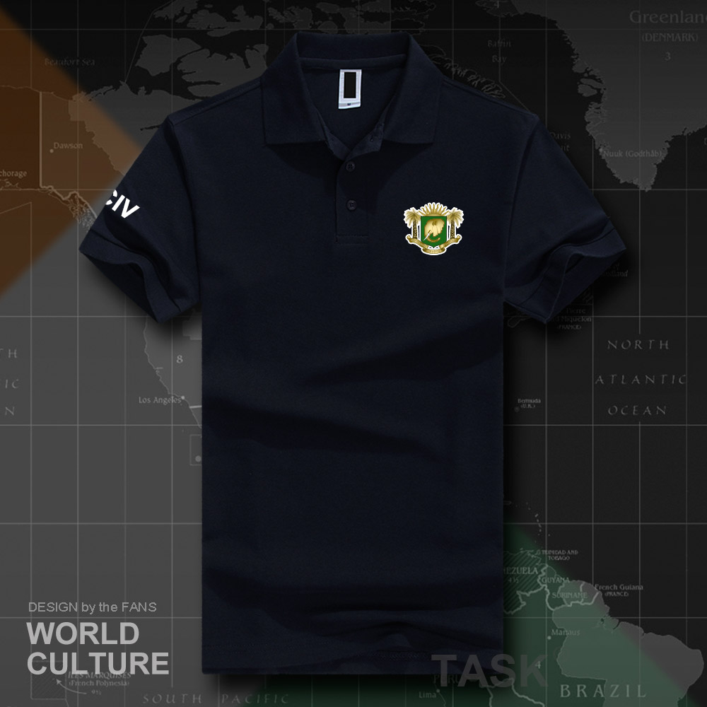 Cote d'Ivoire Ivory Coast   polo   shirts men short sleeve white brand printed for country cotton nation CIV Ivorian Ivoirian new 20