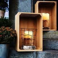 3pcs/set Flameless LED Swing Electric Flickering Tea Light Candle Wedding Christmas Home Decor