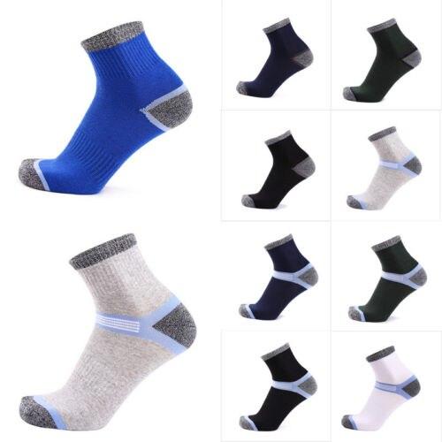 Hirigin 2017 Men Compression Socks Heel Men Socks 100% Cotton Crew Fashion Spingy Anti-Pilling Socks Free Shipping