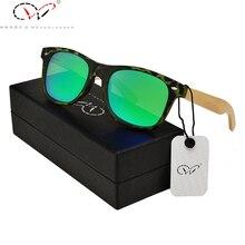 13 Colors Versae Ladies Designer Sunglasses Round Frame pc Mirror Bamboo Arm Green Men Women Okulary Ladies Designer Sunglasses