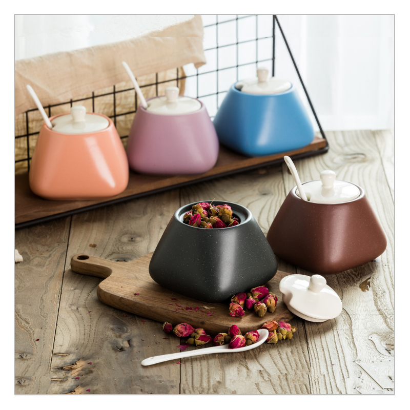 US $13.6 40% OFF|RSCHEF Japanese creative kitchen supplies ceramic spice  jar five sets of seasoning boxes home seasoning pot gift tools-in ...