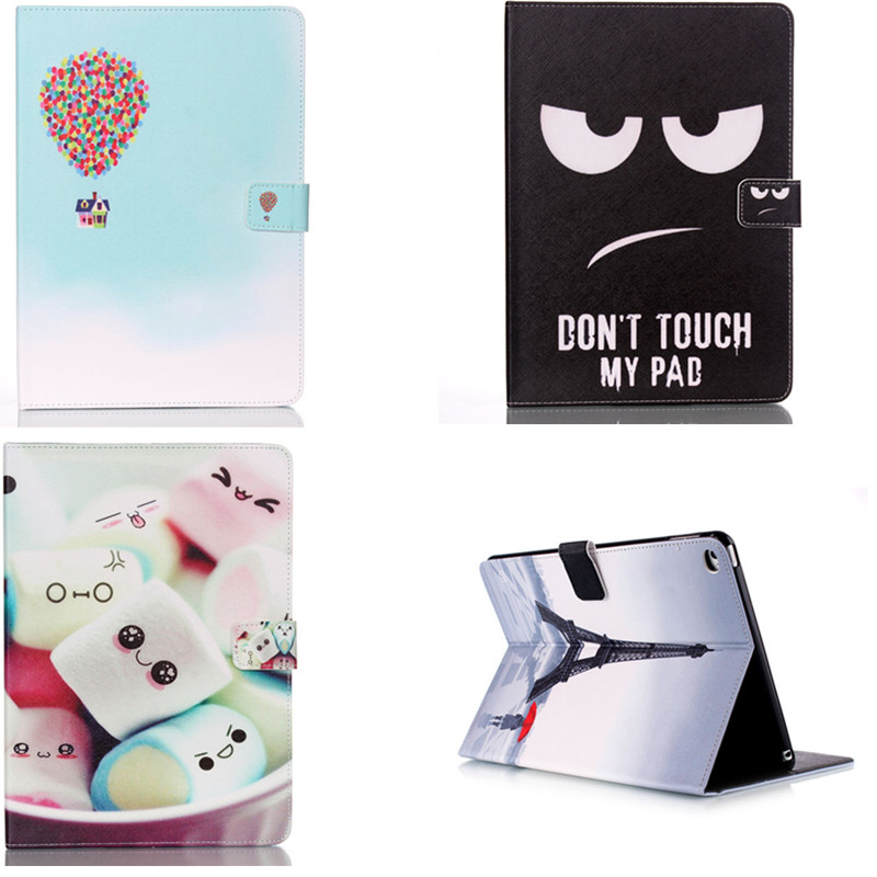 Fashion YB For Apple iPad Air 2 Air2 Flip PU Leather Case Cover Cute Tower Tablet Stand Case With Card Holder for Apple iPad 6 flip left and right stand pu leather case cover for blu vivo air