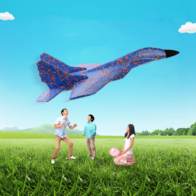 Image 5 - DIY Kids Toys Hand Throwing Model Airplane Foam Aircraft Stunt Luminous Education EPP Glider Fighter Planes Toys For Children-in Diecasts & Toy Vehicles from Toys & Hobbies