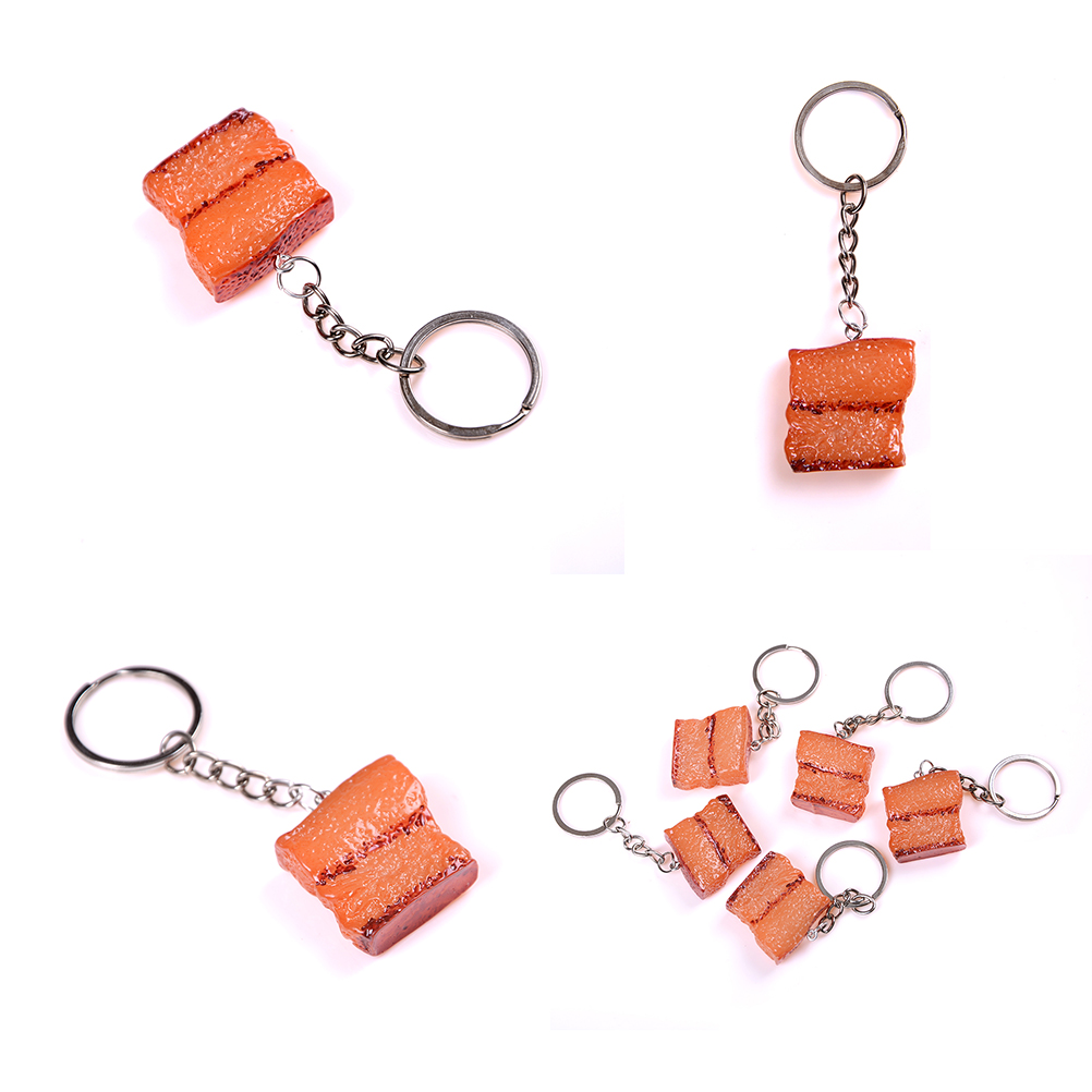 1PCS Creative Mini Plastic Fake Food Braise In Soy Sauce Meat keychain Funny Joke Prank Trick Toy Promotional Gifts in Gags Practical Jokes from Toys Hobbies