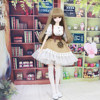 Fortune Days For 1 4 BJD Doll 45cm Highly Brown Fashion Girl In Four Piece Dress