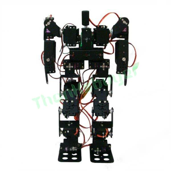 RC Toy 17DOF Humanoid Robot Biped Robotic Educational Robot Kit Servo Bracket with Metal Servo Horn for Arduino DIY new 17 degrees of freedom humanoid biped robot teaching and research biped robot platform model no electronic control system