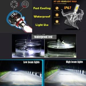 Image 5 - Hillpow farol do carro h7 led h4 h1 h11 h3 h13 h27 880 9006 9007 72w 6500k 12v auto farol cob luz de nevoeiro lâmpada frete grátis