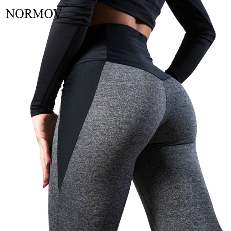 NORMOV   Leggings   Women Autumn And Winter High Waist Fitness Patchwork Thick Legins High Workout   Leggings   Sporting Pant