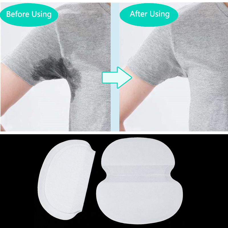 200pcs Underarm Absorbent Pads Summer Big Anti Sweat Pads Armpit Perspiration Shield Stickers Body Cleaning Dry Pads Deodorant