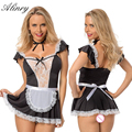 2017 NEW arrive sexy lingerie black lace sexy chemise export breast Maid cosplay erotic lingerie perspective sexy costumes
