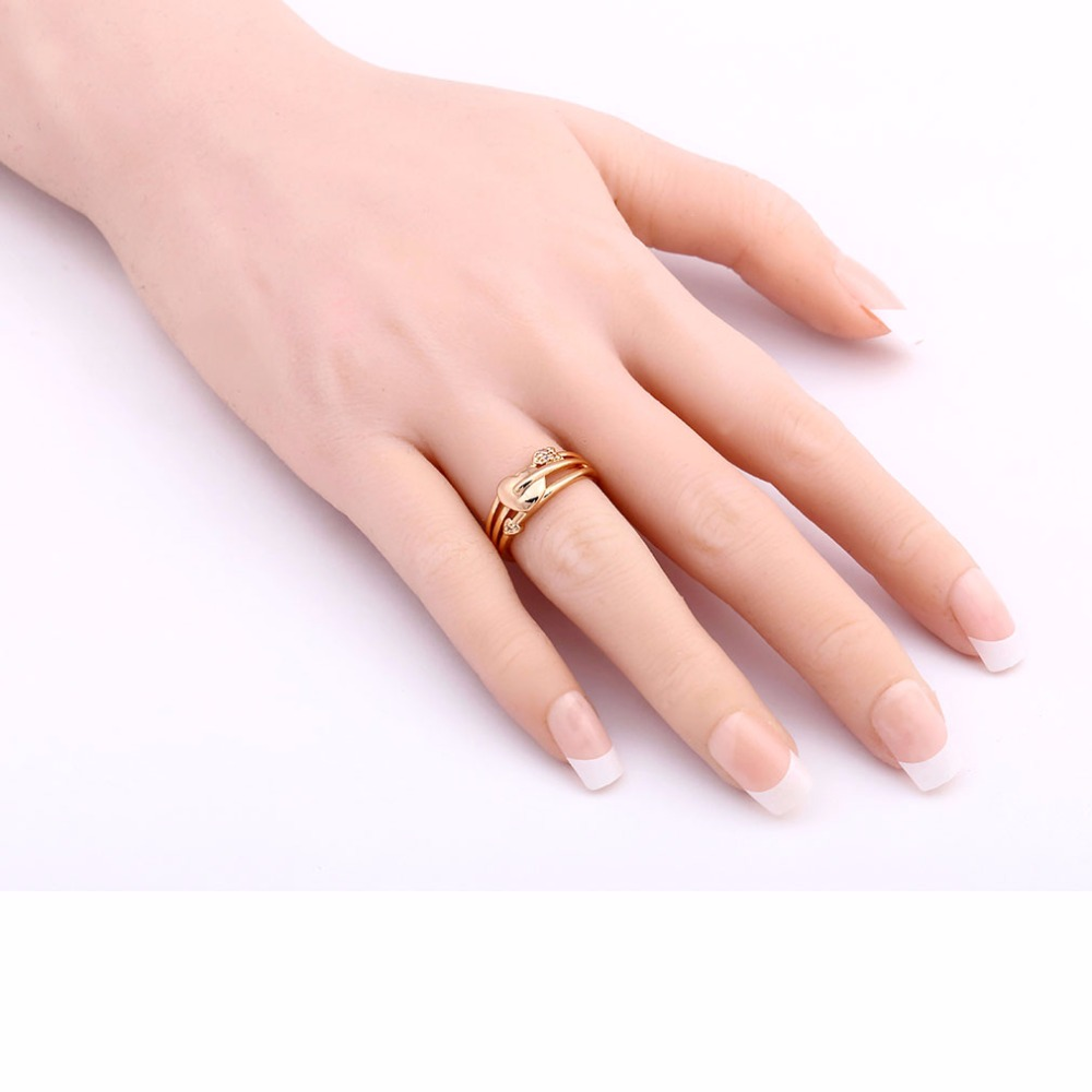KUNIU Brand New Hot Woman\'s Fine Ring Trendy Two Tone Gold Wedding ...