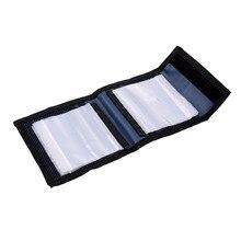 цена на Fly Fishing Leader Wallet 12 Removable Sleeves Pocket Tapered Leader Line Storage Line Tippet Bag Fly Fishing Tackles Bag