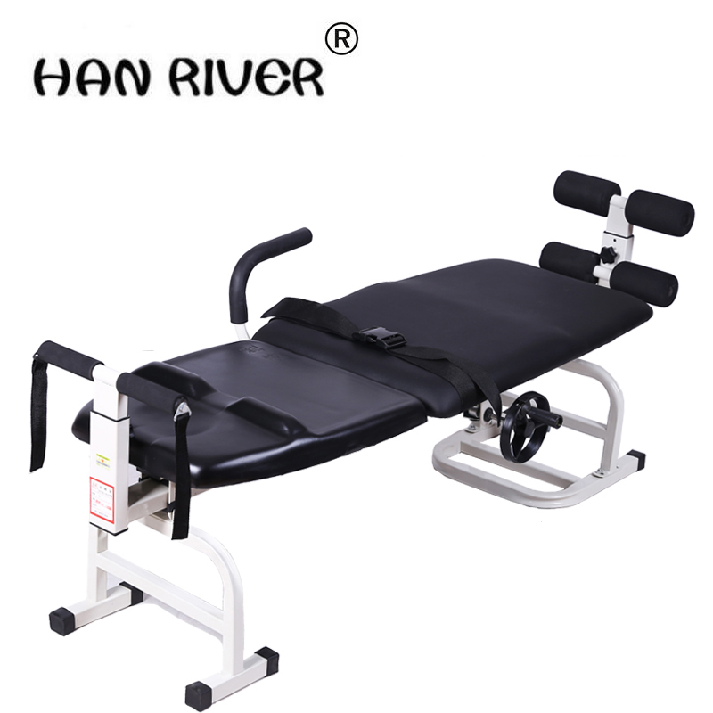 Ease back pain with lumbar tractor neck lumbar traction bed body protruding stretcher Sp ...