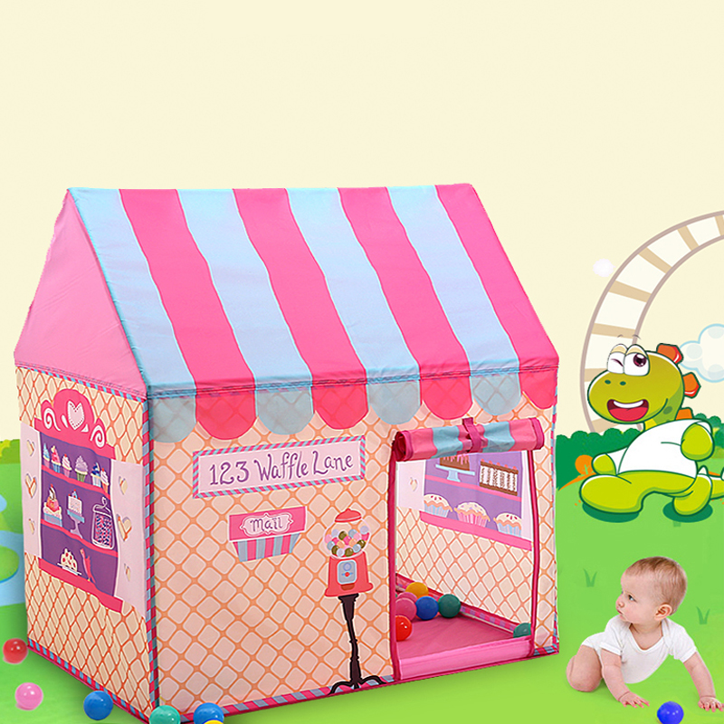 Baby Foldable Cute Play Houses and Fun School Outdoor Toy Tent Lodge Wigwam Outdoor Games For Children