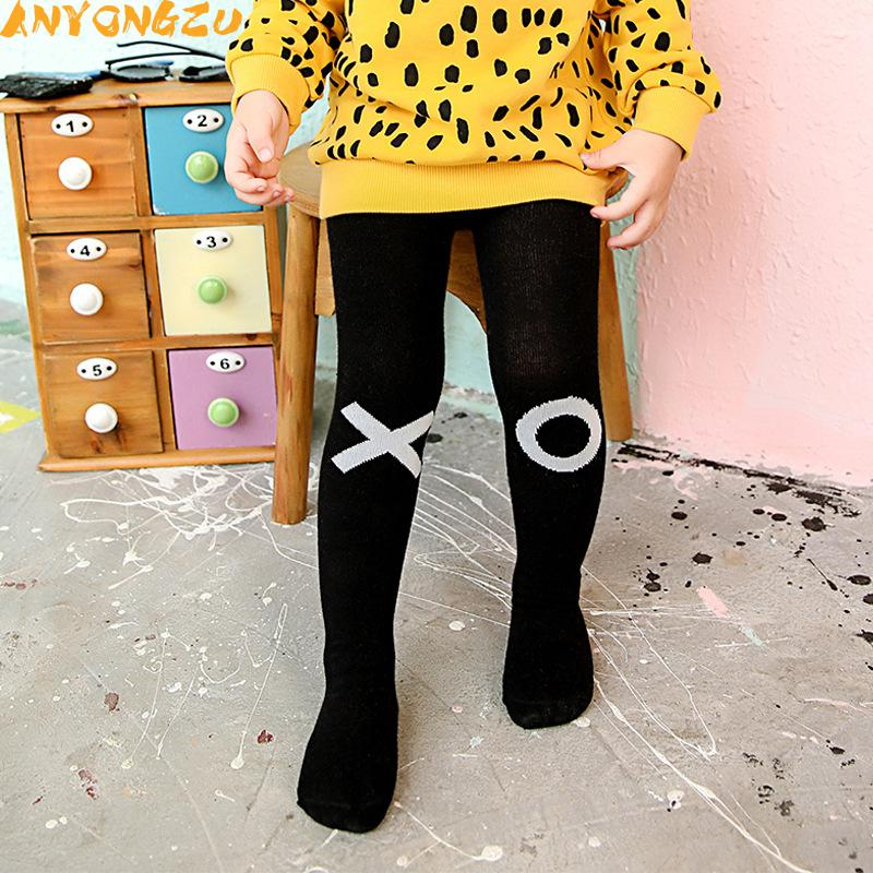 045b58dfe 2pcs Cotton Knitting Baby Tights Girls Boys Cartoon Tights Toddler  Stockings Pantyhose Children Clothes Black and white-in Tights   Stockings  from Mother ...