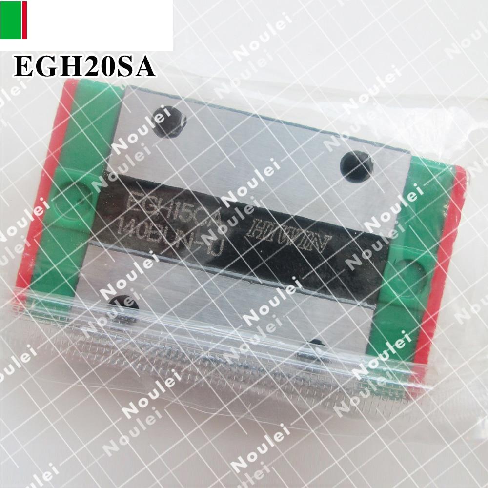 HIWIN EGH20SA linear guide slider EGH20 SA for 20mm slide shaft rails CNC kit linear guide rails hgh hgl egh15 20 25 30 35 sa ha ca