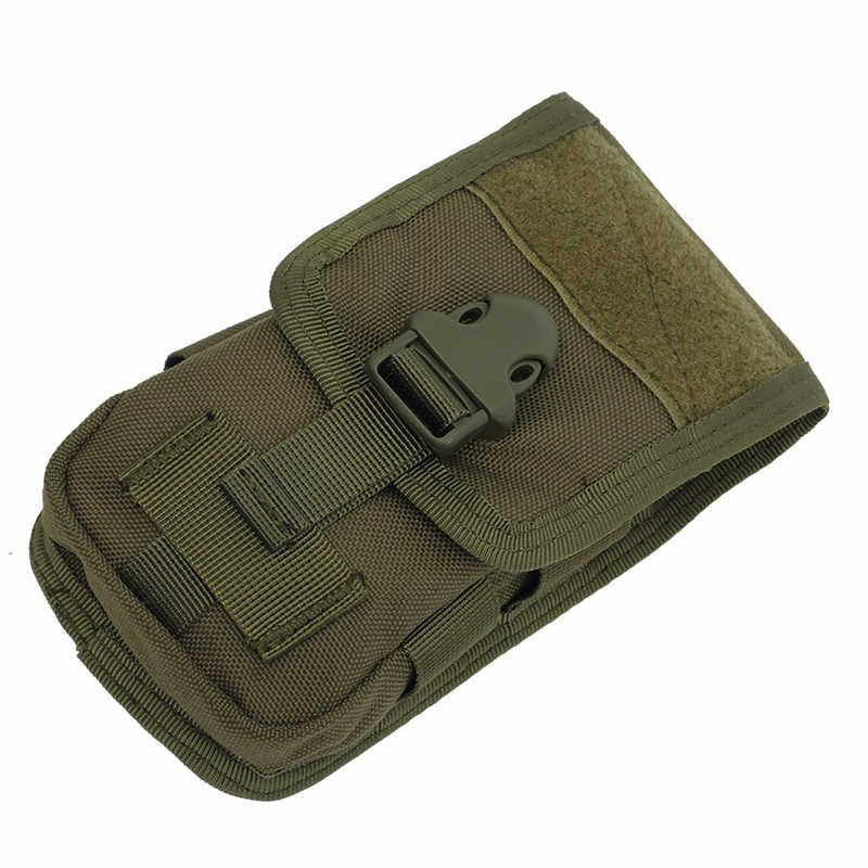 Taktis Double-Layer Telepon Tas Kantong Molle Handphone Uang Alat Tas Sabuk Militer Berburu Molle Tas Tas tas Pinggang