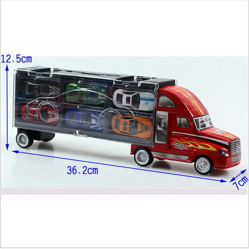 Transport Car Carrier Truck Boys Toy (includes Alloy Metal 12 cars) For Kids Children  (4)