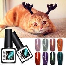 LEMOOC 8 мл магнитный 3D гель-лак для ногтей с эффектом «кошачийглаз» лак для ногтей Soak Off гель для ногтей UV светодио дный лак для ногтей блеск эффект кошачьих глаз DIY Дизайн ногтей гель лак