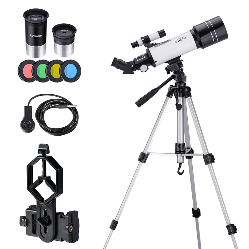 Basic Astronomy Telescope for Beginners Kids Teenagers Moon Finder with Tripod Eyepieces Phone Adapter 16x 66x Magnification image