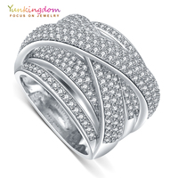 Yunkingdom 2017 New Fine Rings For Women Luxury Wedding Party Jewelry Rings M0379