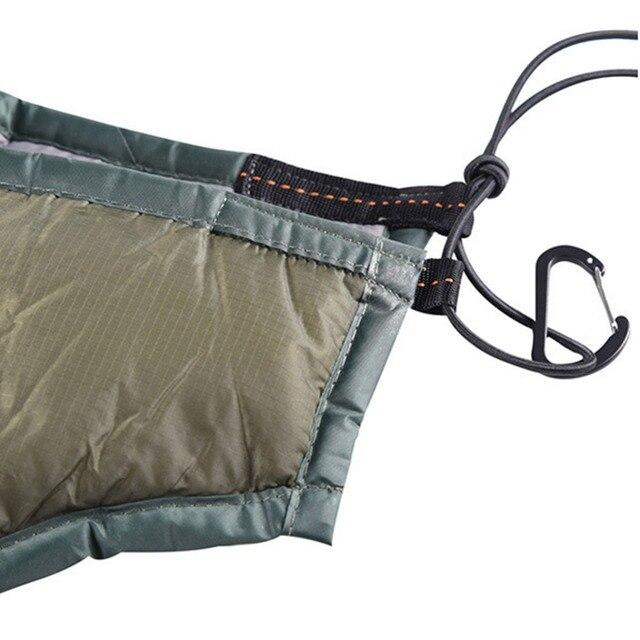 Outdoor Camping Full Length Hammock Underquilt Ultralight Winter Warm Under Quilt Blanket Cotton Hammock 4