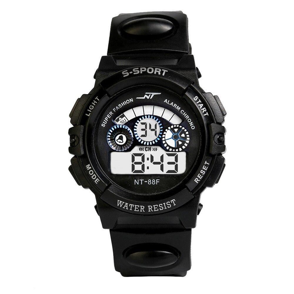 Luminous Display Mens Boy's Digital Watches LED Sports WristWatch спортивн часы часы дтские Reloj Nios  Zegarek Dla Dzieci C50