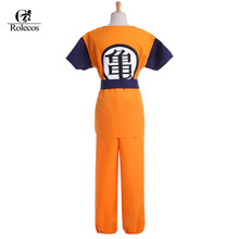 Rolecos Classic Cartoon Dragon Ball Z Cosplay Costume Son Goku Cosplay Costume Sets Halloween Costume for both Kids and Adult