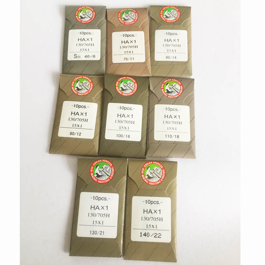HA*1 Sewing Needles Japan ORGAN House Sewing Machine Needles For SINGER BROTHER Size 8,11,12,14, 16 ,18,21,22
