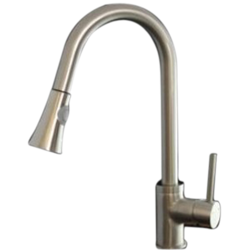 LHLL Faucetland 003002333 Kitchen Sink Faucet Pull Out Down Spray Single Handle Brushed Nickel