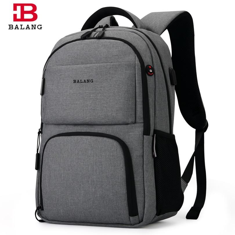 купить BALANG Brand 2018 New Men Laptop Backpacks Women Large Capacity Computer Backpack Waterproof School Bags Backpacks for Teenager по цене 2853.86 рублей