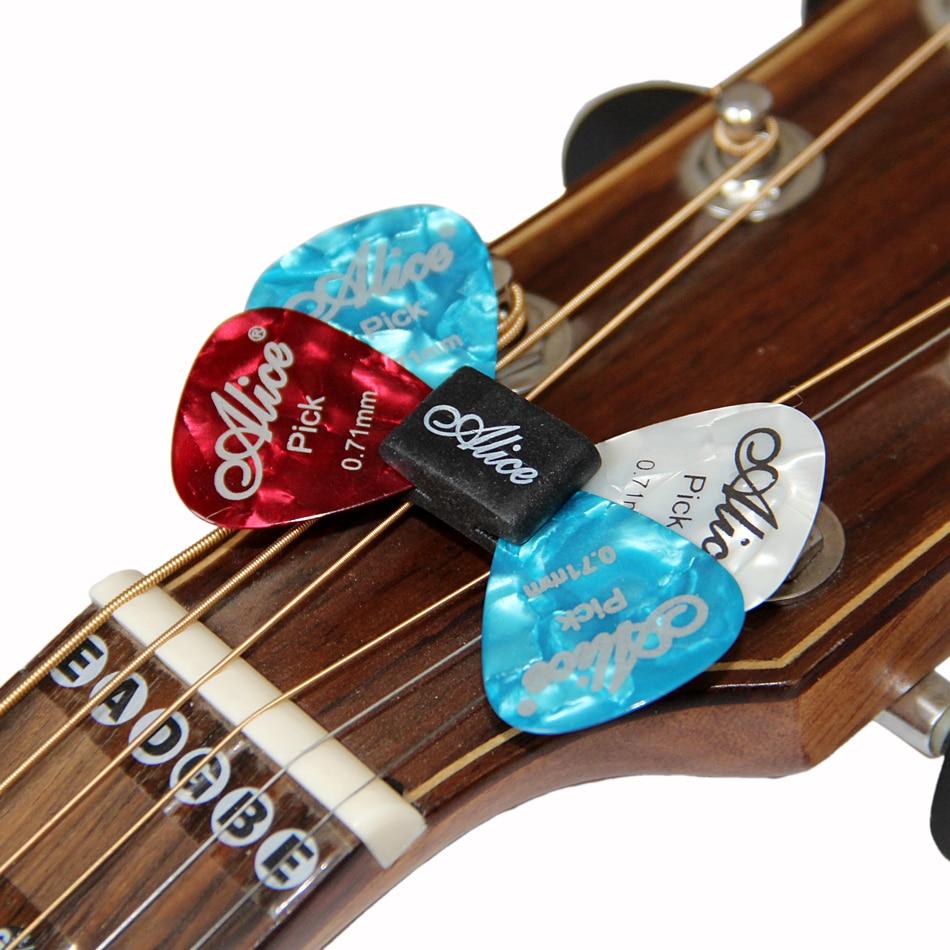 Alice A010CP Black Rubber Picks Holder fixed on Bass/Guitar/Ukulele Headstock 5pcs/set